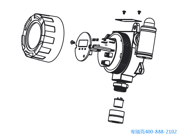 固定式無線複合氣體檢測儀結構