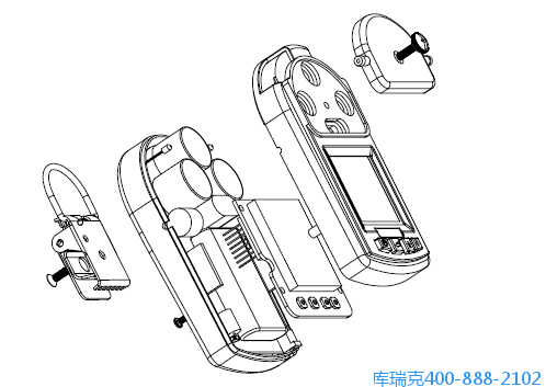便携式无线复合气体检测仪结构